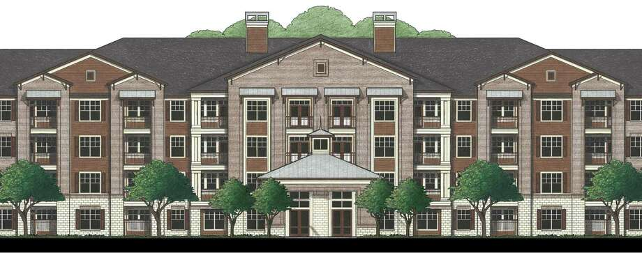 Houston-based Blazer has broken ground on Augusta Woods, a four-story apartment project near Augusta Pines Drive and Kuykendahl in Spring for ages 55 and up. Mucasey & Associates, Architects designed the 180-unit complex and Amegy Bank provided construction financing. Photo: Mucasey & Associates, Architects, Blazer