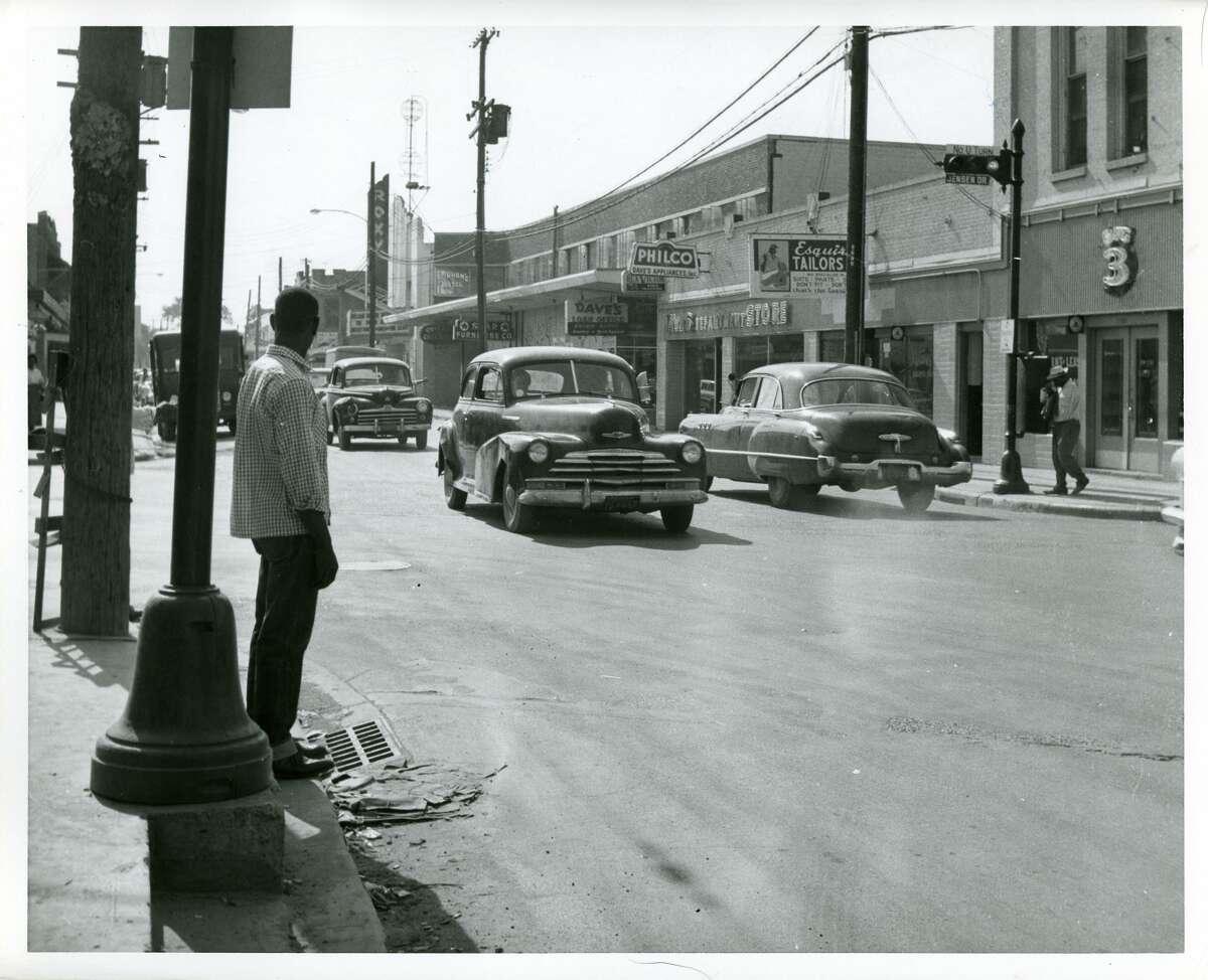 October 1956Lyons Avenue at Jensen, looking west.