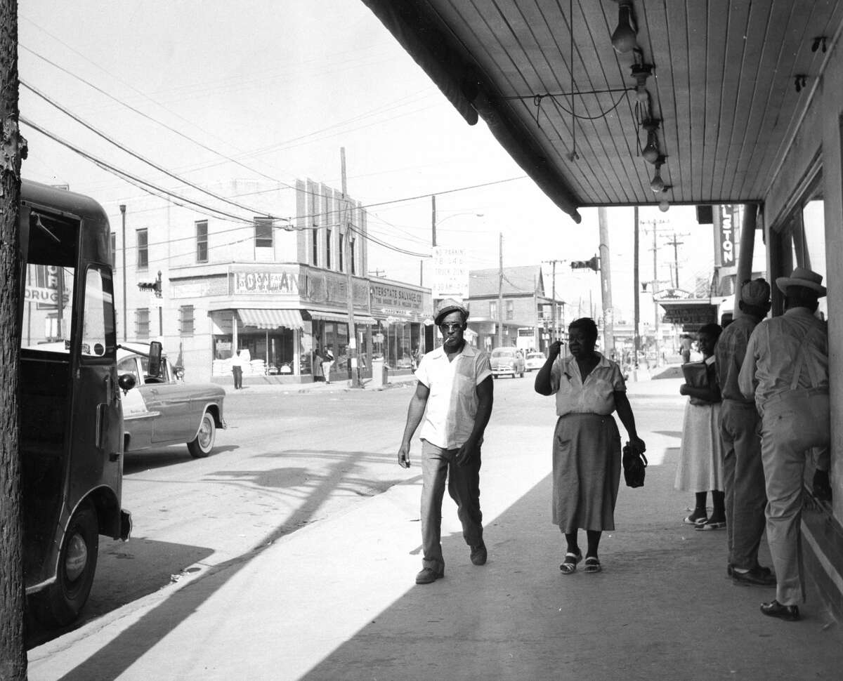 October 1956Lyons and Jensen in Houston's Fifth Ward.