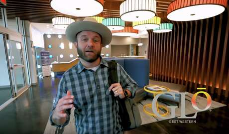 Best Western's Chet Garner with a first look at the first Glo hotel near Dallas, TX Photo: Best Western