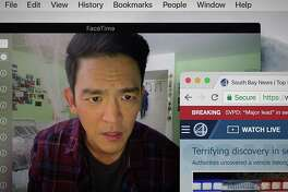 "John Cho goes online to find his missing daughter in ""Searching."""
