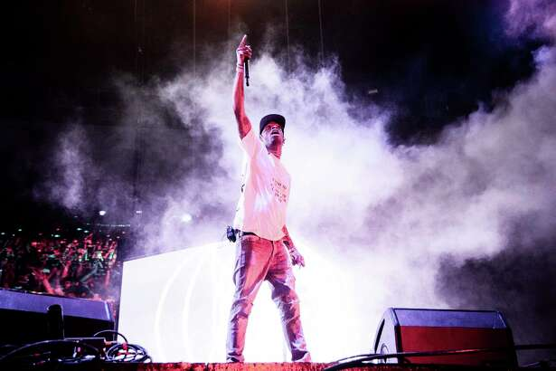 Travis Scott performs at the Voodoo Music Experience in City Park on Saturday, Oct. 27, 2018, in New Orleans. (Photo by Amy Harris/Invision/AP)
