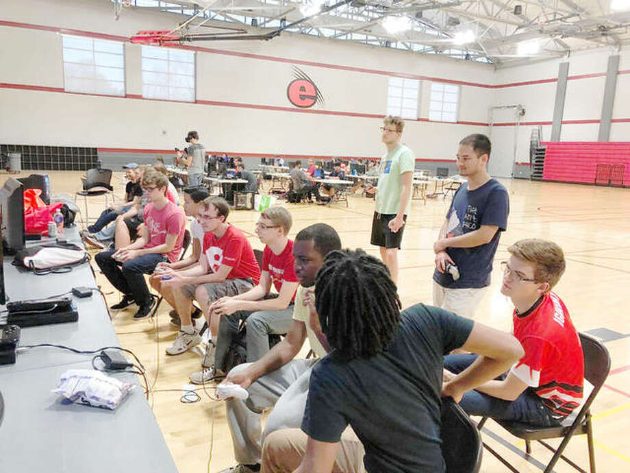 SIUE Esports teams in the Student Fitness Center compete in a recent tournament. Photo: For The Telegraph