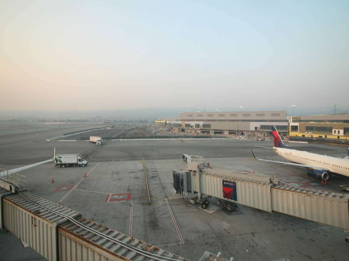 San Francisco International Airport is experiencing delays on many flights due to wildfire smoke causing low visibility. Photo taken Nov. 12, 2018