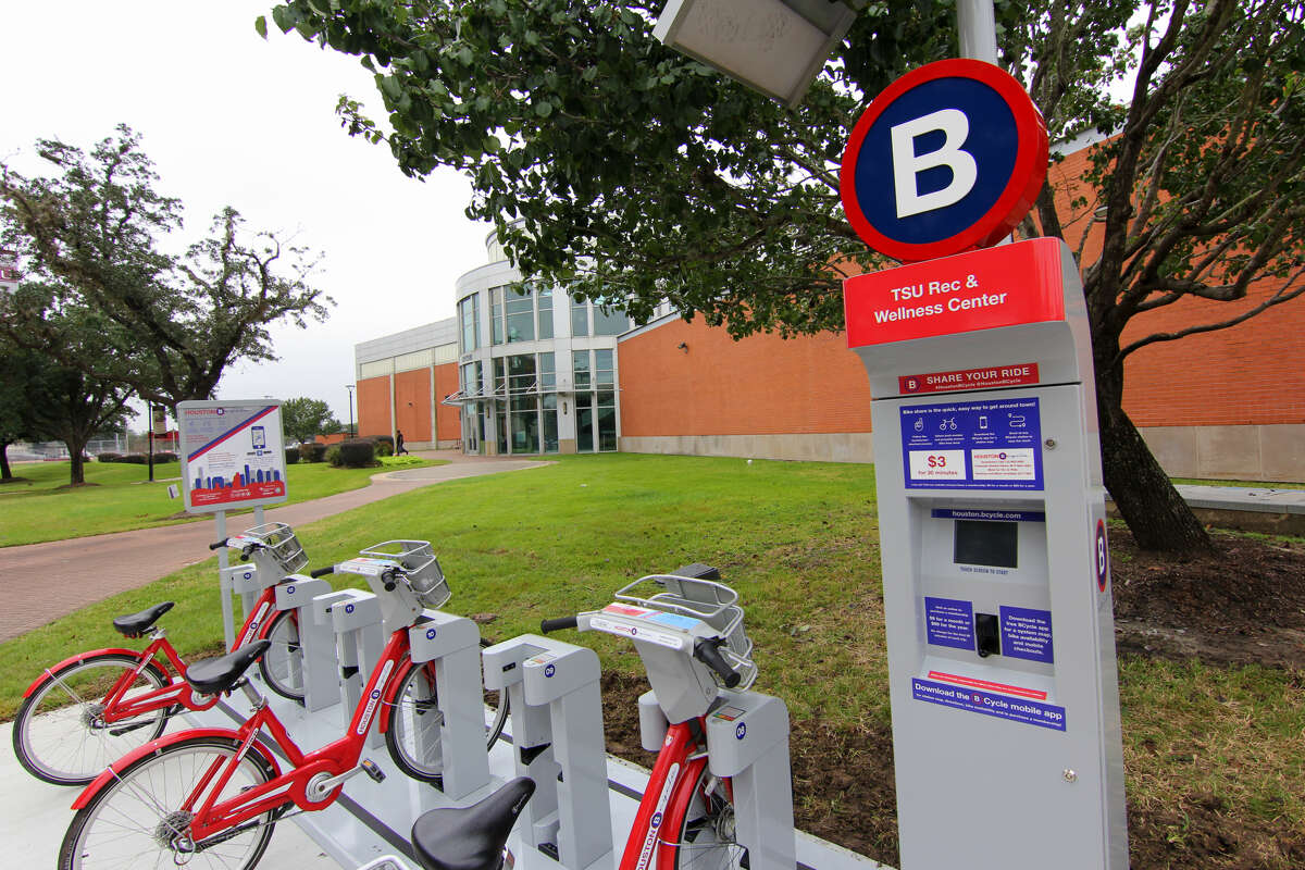 Five new bike share stations were installed at the Texas Southern University Campus.