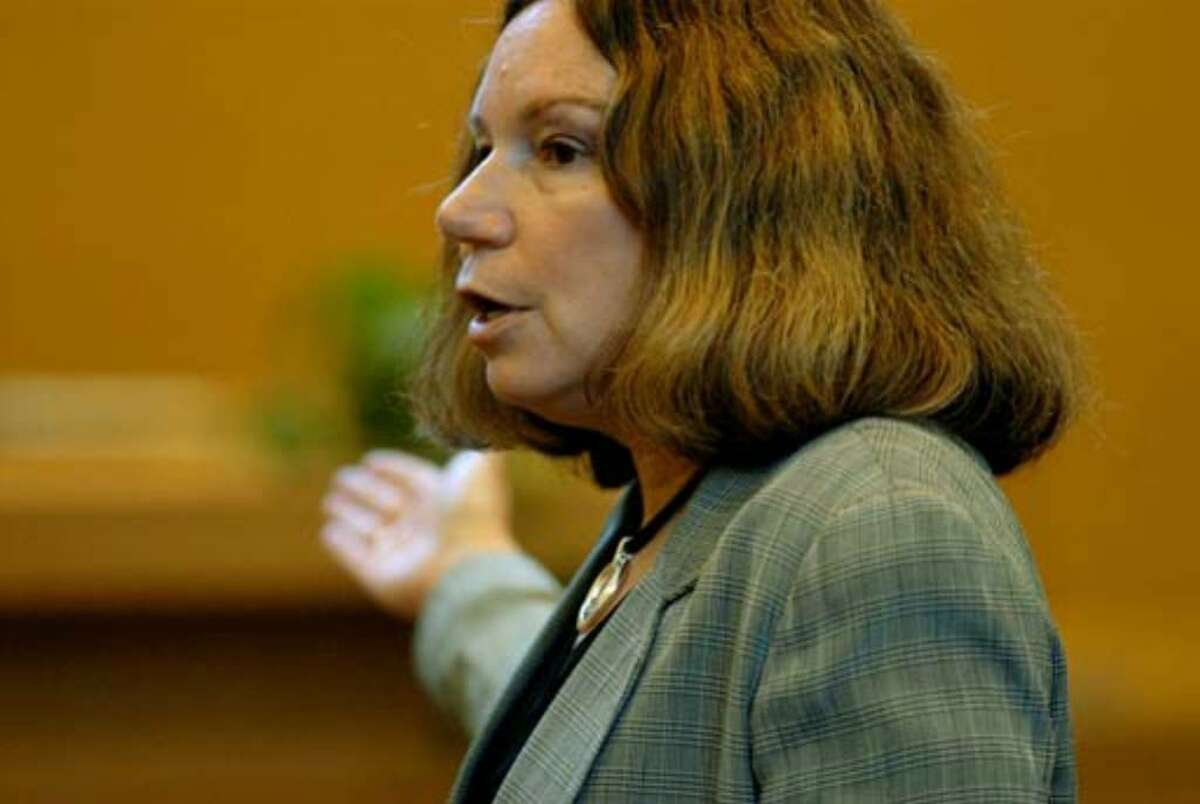Defense Attorney Laurie Shanks delivers her closing argument during the trial Wednesday, August 9, 2006.