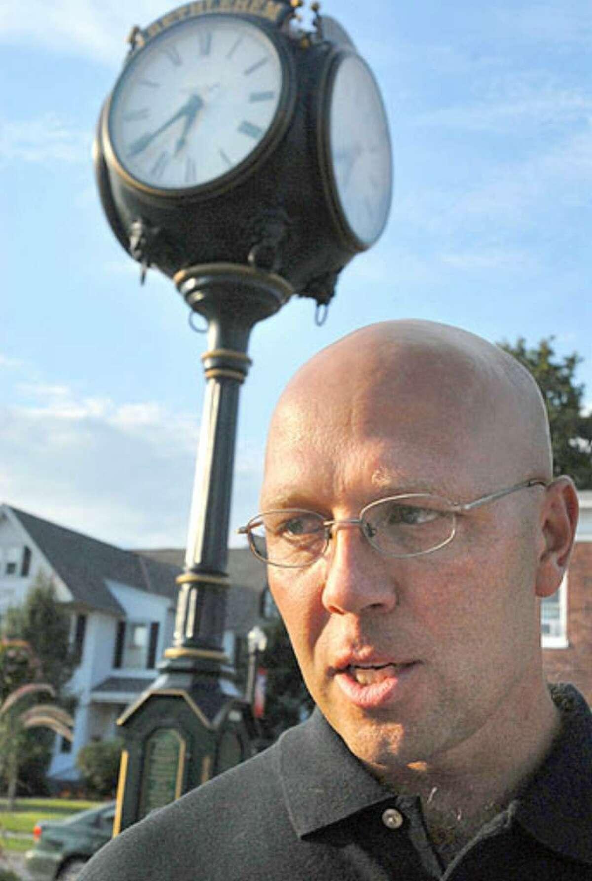 Bethlehem police officer Bruce Oliver talks about the Christopher Porco verdict in Delmar Thursday.