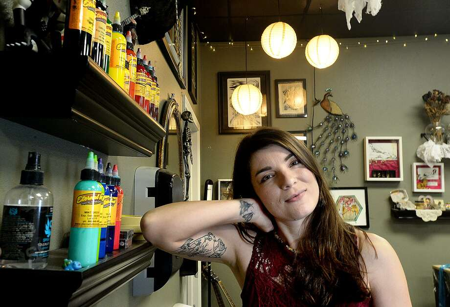 Kailee Viator is apprenticing under mentor Cara Edgar at Javelina Tattoo Studio in Beaumont. The multi-media artist says tattooing is like adding another medium to her skill set.   Photo taken Friday, November 9, 2018  Kim Brent/The Enterprise Photo: Kim Brent / The Enterprise / BEN