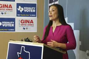 Gina Ortiz Jones announces that her campaign has asked for an extension to continue the vote count in her race for the District 23 Congressional seat on November 13, 2018.