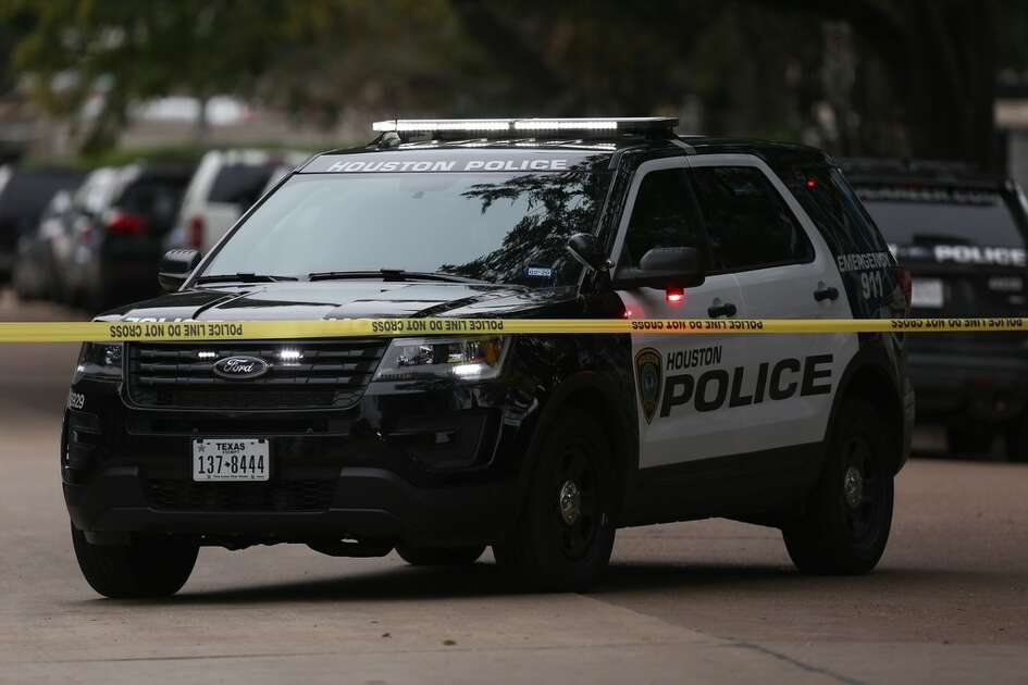 HPD officials are at the scene where a drive-by shooting left one Lamar High School student died near the intersection of Bammel Lane and Philfall Street on Tuesday, Nov. 13, 2018, in Houston.