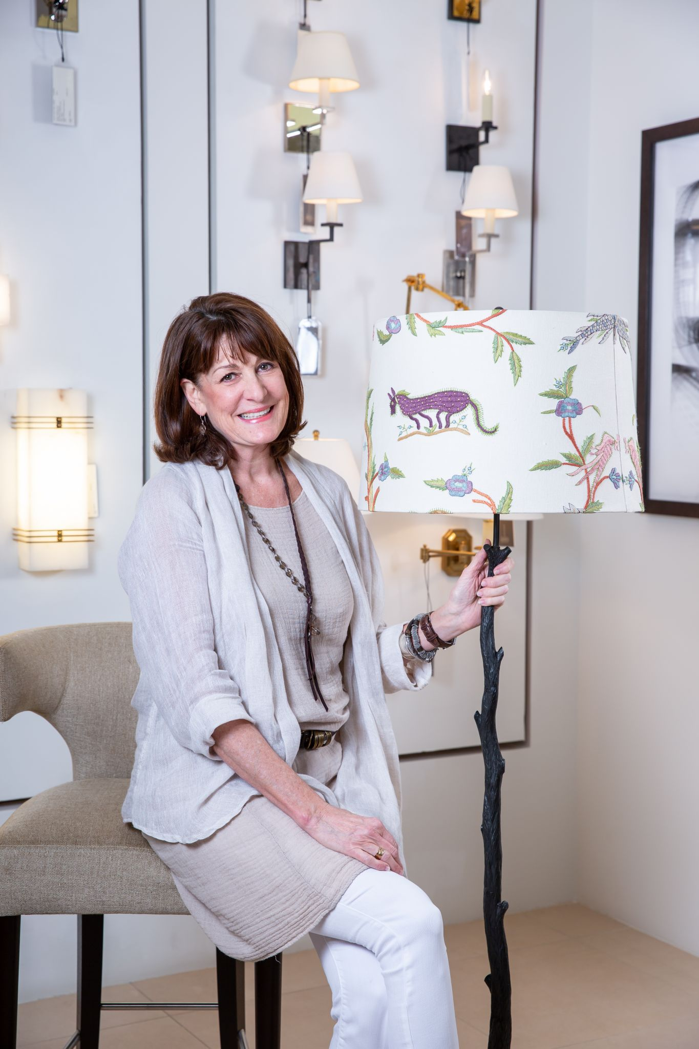 Houston Designer Creates Lampshade For Vaughan Lighting