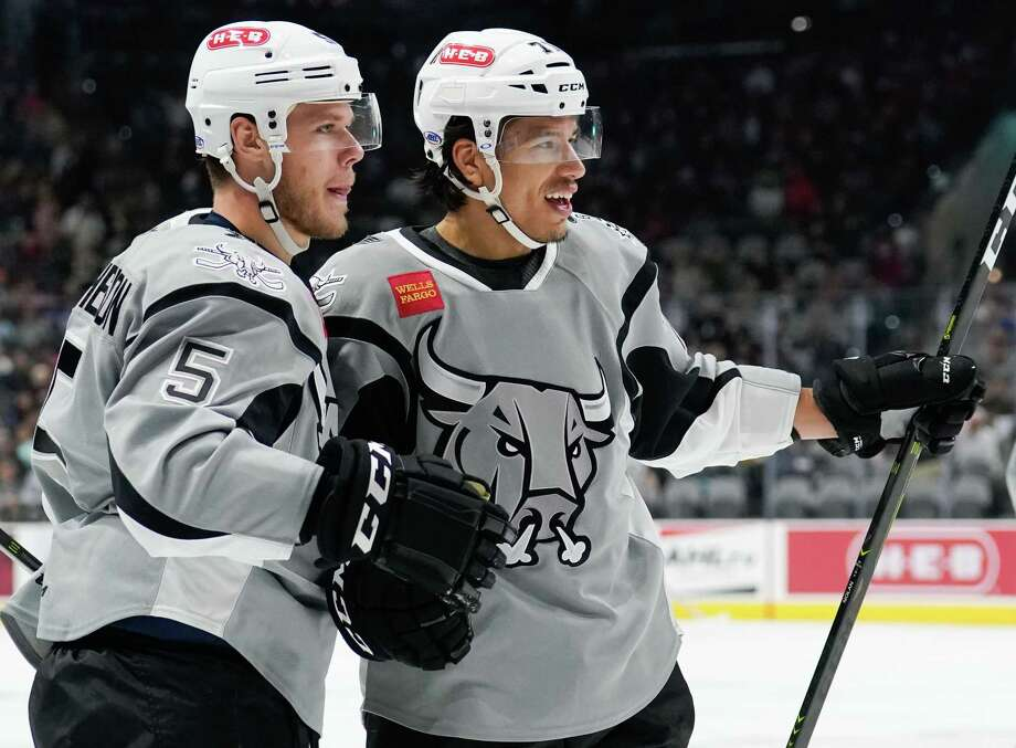 The Manitoba Moose play the San Antonio Rampage during the second period of an AHL hockey game, Tuesday, Nov. 13, 2018, at the AT&T Center in San Antonio, Texas. (Darren Abate/AHL) Photo: Darren Abate, FRE / Darren Abate/AHL / Darren Abate Media, LLC/AHL/San Antonio Rampage
