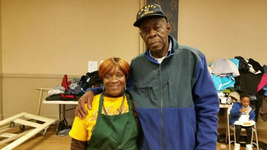 In 2017, Marie Mackey and veteran Clarence Lucky volunteered at FISH/Friends in Service to Humanity of NWCT's pasta lunch and coat giveaway in Torrington, during the third annual Rally Day to End Hunger and Homelessness in Northwest Connecticut. The rally day will be held again on Saturday. Photo: File Photo / Hearst Connecticut Media