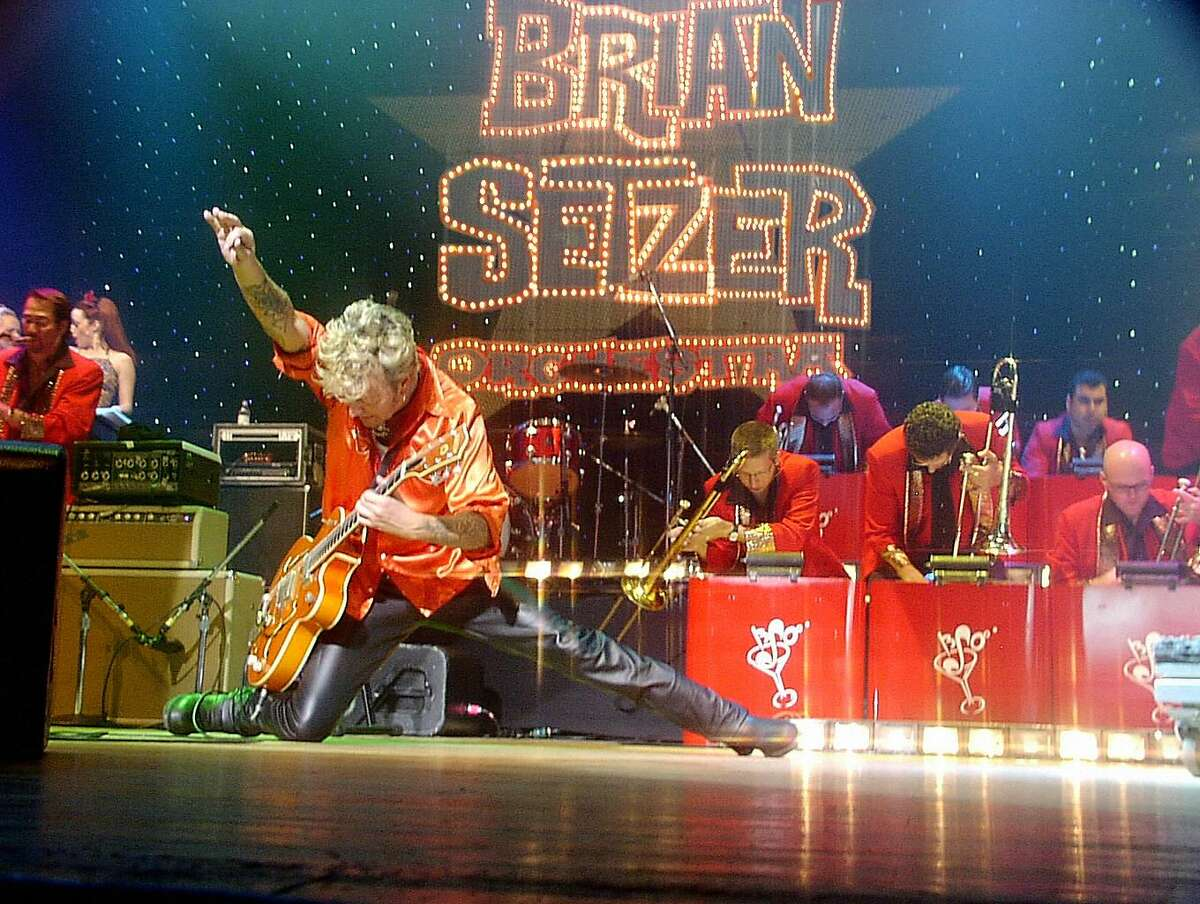 Brian Setzer with his orchestra.