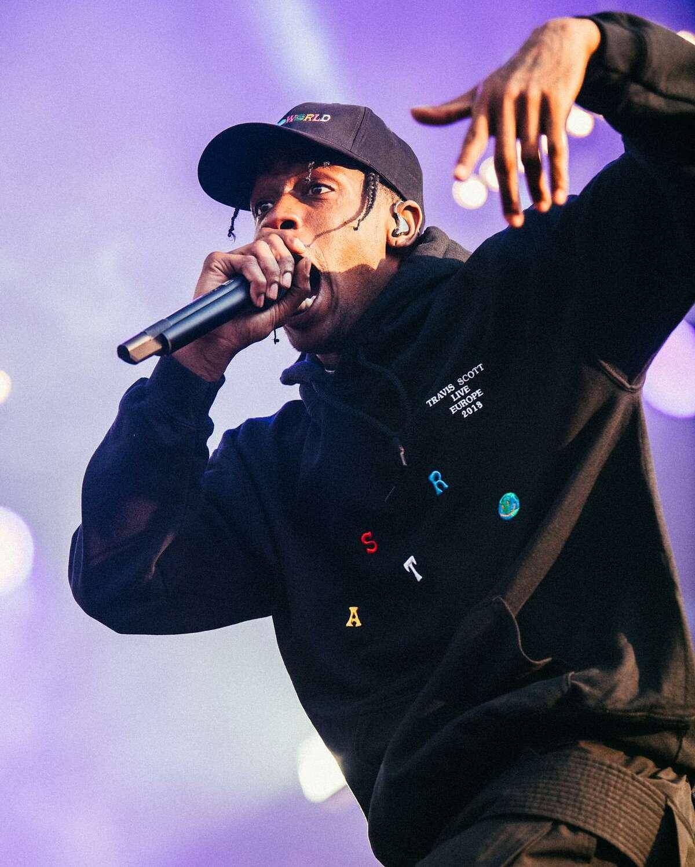 Rap superstar Travis Scott hosted the inaugural Astroworld Festival at NRG Park in Houston on Nov. 17, 2018.