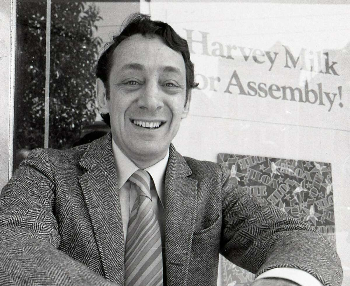 Harvey Milk during his run for a seat in the State Assembly, May 21, 1976