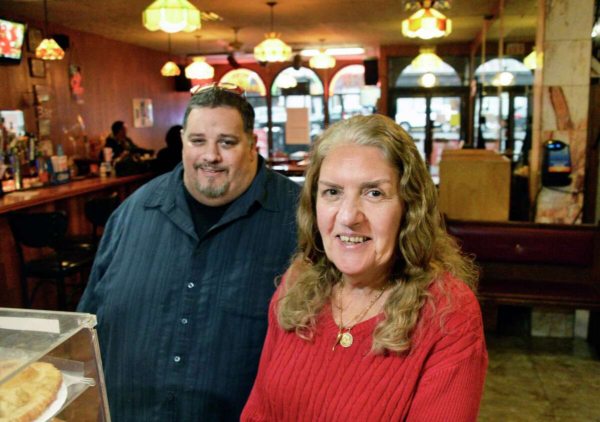Jonathan Urgo and his mother Toni in their family's Jonathan's Pizza on North Pearl Street Tuesday Nov. 6, 2018 in Albany, NY. (John Carl D'Annibale/Times Union)