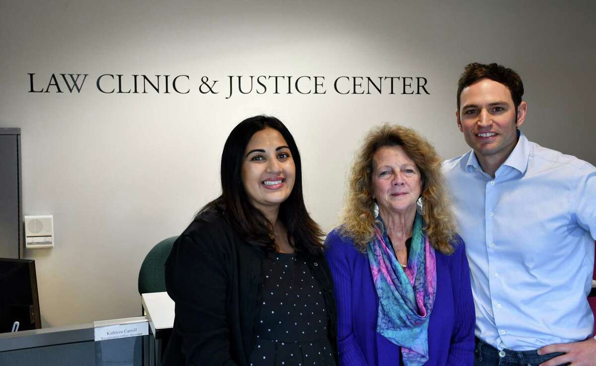 Albany Law School staff, from left: Chaula Shukla, staff attorney at the Health Law Clinic; Connie Mayer, associate dean and director of the Law Clinic & Justice Center; and Ted De Barbieri, director of the Community Development Clinic and Pro Bono Program. (Submitted photo)