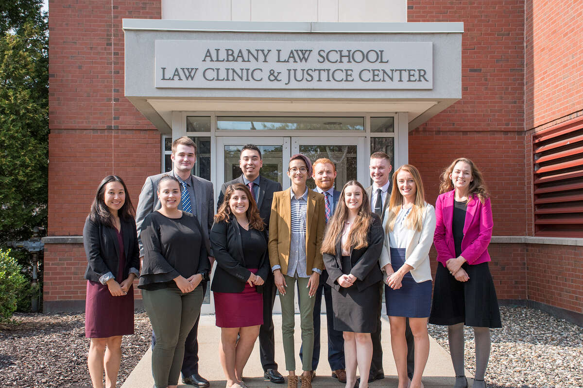 Immigration Law Clinic staff and students at Albany Law School's Law Clinic and Justice Center pose at the beginning of the fall semester. (Submitted photo)