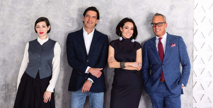 The team for public relations, marketing and consulting agency Public Content. From left to right, creative director Gail Rubin, client relations director Stuart Rosenberg, operations director Amy Johnston and business development director Mark Sullivan.