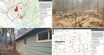 Camp Fire: Map tool helps survivors discover damage of homes ... on home map plan, home map design, home plan search, home new construction, home employment search, home finder by map,