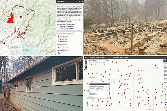"""Cal Fire's """"Camp Fire Structure Status"""" map is a resource for residents who want to know the status of their homes and businesses. Users can plug addresses into a search engine and the map pulls data that shows photos of buildings, or what remains, on the property. Information is frequently updated."""