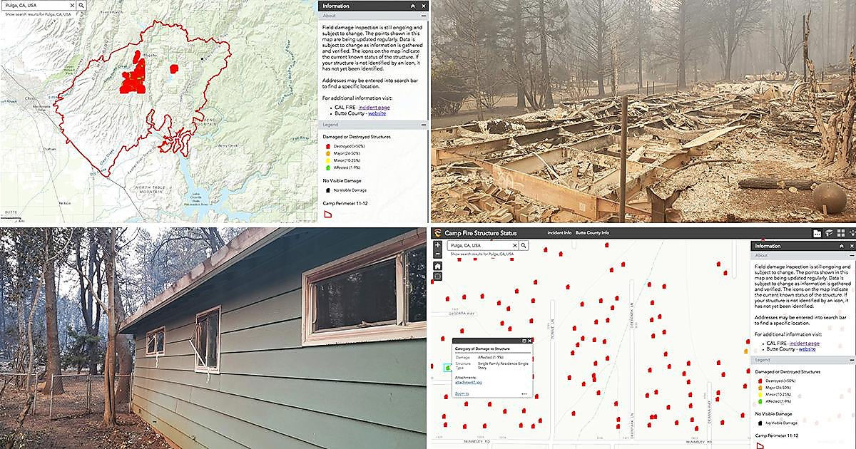 Camp Fire Map Tool Helps Survivors Discover Damage Of Homes