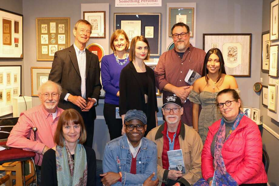 "The Norwalk, Conn., poets involved in ""Oysterville: Poems,"" at the release party for the chapbook and spoken word album Nov. 8, 2018 at the Artist's Market on Main Avenue. Photo: Contributed Photo"