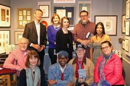 """The Norwalk, Conn., poets involved in """"Oysterville: Poems,"""" at the release party for the chapbook and spoken word album Nov. 8, 2018 at the Artist's Market on Main Avenue."""