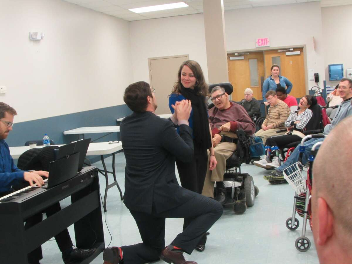 Opera Saratoga performed for the Center for Disability Services. Their Opera To Go series for schools will be virtual this year.