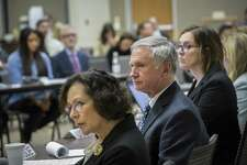 Associate Division Director at U.S. Department of Education Gregg Corr listens to hundreds of parents who voiced their outrage for Special Education in Texas to a listening board of representatives from the United States Department of Education and the Texas Education Agency Dec. 15, 2016, in Austin. The 5th Circuit Court of Appeals has upheld a stiff penalty against the state for underserving special education students.