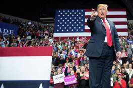 President Donald Trump delivers remarks at a Make America Great Again rally in Fort Wayne, Indiana on November 5. His evil genius is in stoking the nation's divisions.