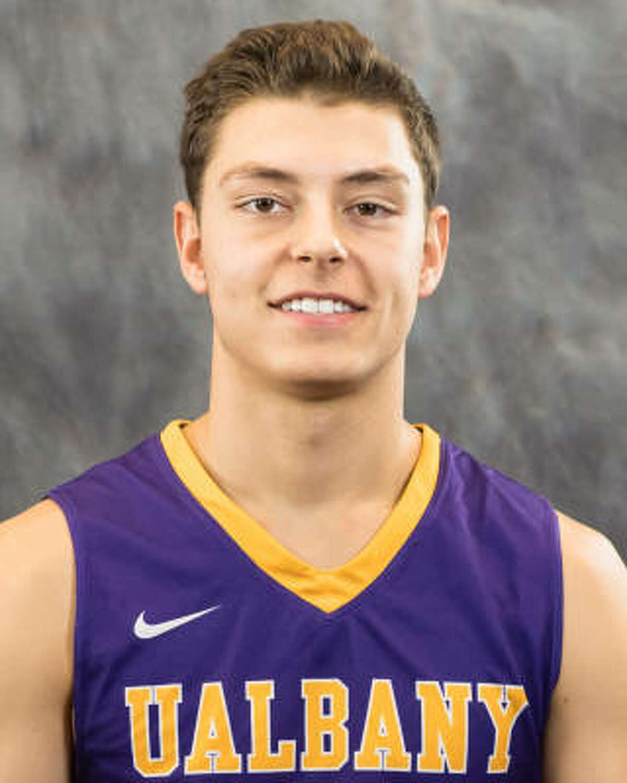 Freshman guard Cameron Healy of the University at Albany basketball team. (UAlbany photo)