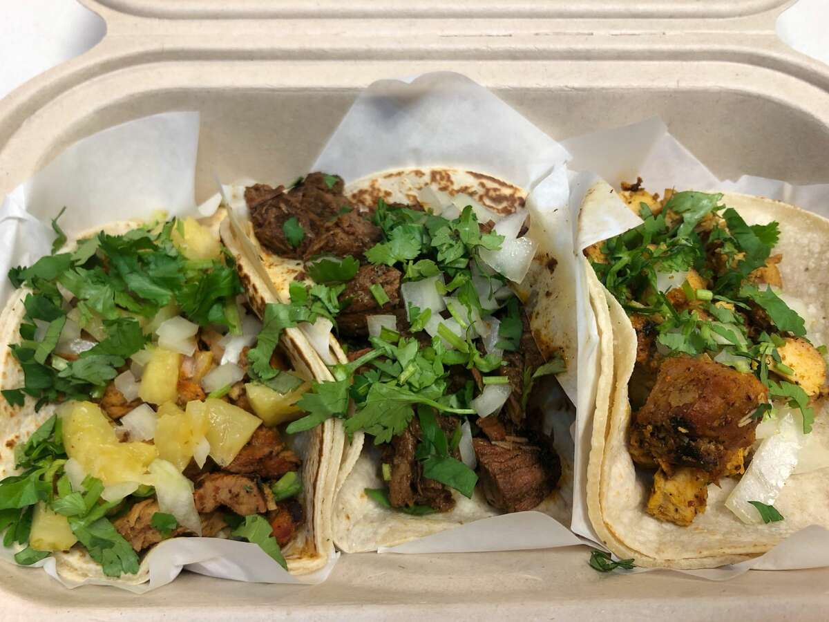 Tropisueno Cuisine: Mexican Location:75 Yerba Buena Ln. What I ordered: Tacos: pastor, asada and chicken Price: $11.91 (after taxes) Tropisueno has a lot of options on their menu for under $10 but, if you order tacos like I did, it can add up (regular tacos are priced at $3.50 each). Before taxes, my total was $10.50. I made sure to grab hot sauce at the salsa bar on my way out too. The habanero sauce wasn't overly spicy but does deliver a punch. I also got a free bag of tortilla chips, which was a huge perk since I had enough left over for an evening snack.
