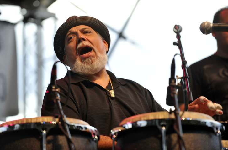 Grammy-winning conga player Poncho Sanchez headlines the Holiday Latin Jazz Fest Nov. 24 at Jones Plaza.