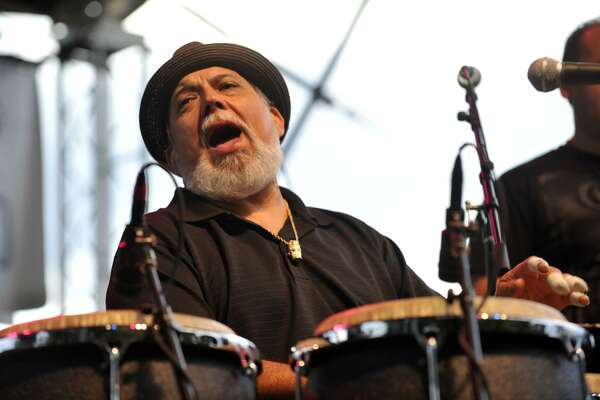 Grammy-winning conga player Poncho Sanchez headlines the Holiday Latin Jazz Fest Nov. 24 at Jones Plaza.