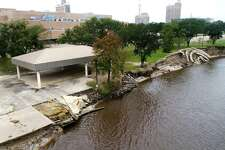 Beaumont Council voted Tuesday to begin the process of repairing Riverfront Park which received heavy damage from Tropical Storm Harvey last year. Photo taken Tuesday, 11/13/18