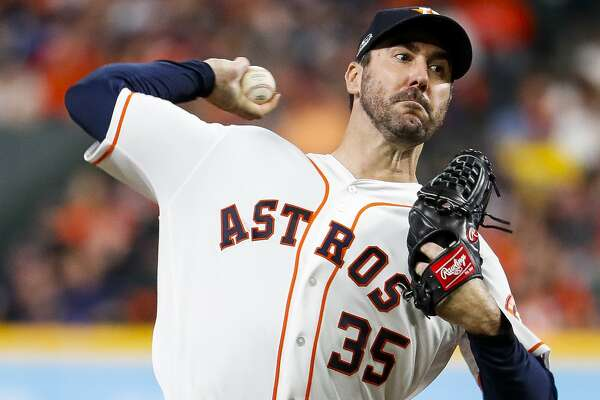 Astros ace Justin Verlander went 16-9 with a 2.52 ERA in 2018, leading the majors in WHIP (0.90) and the American League in strikeouts (290).