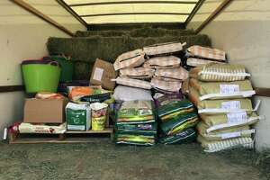 A load of donations Barbara Hallford, a Sonoma fire survivor, delivered to Butte County this week.
