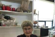 Wesleyan Potters Key member Beverly Vogel.