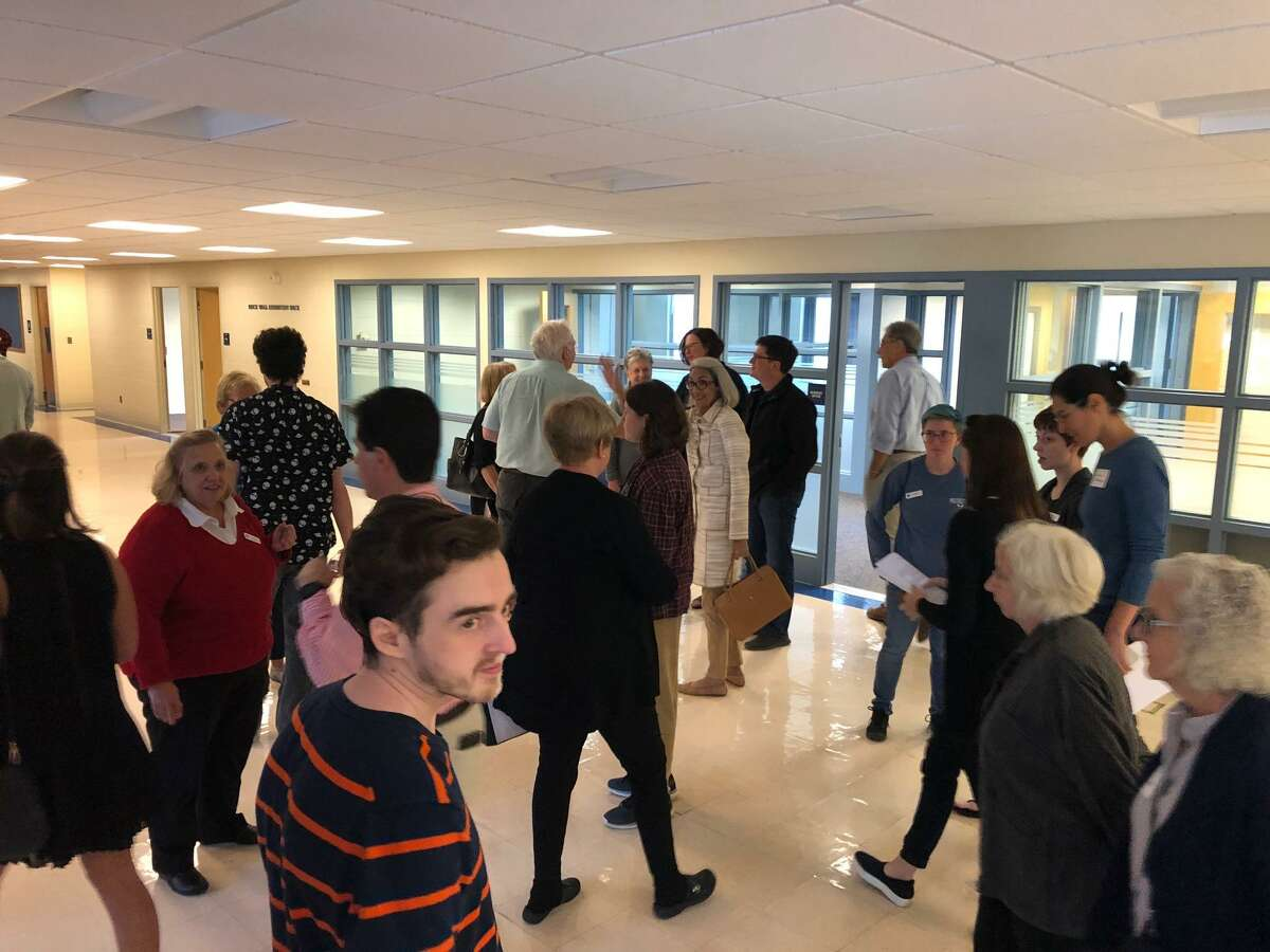 Supporters of Five Points Gallery recently toured the classroom building at the former UConn Torrington campus as part of their plan to buy the property and create an art village.