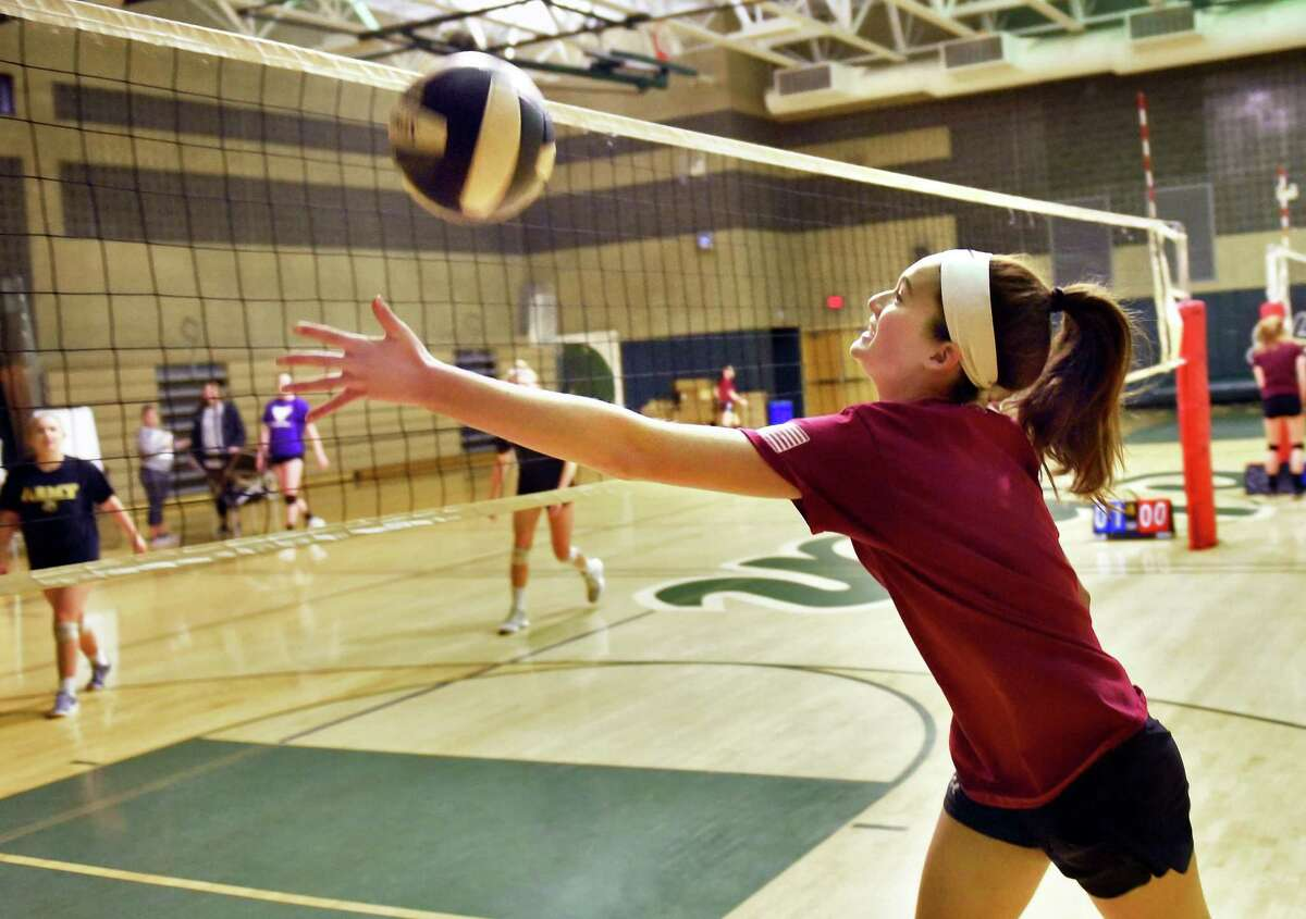 Shenendehowa volleyball's Rose Talty during practice Tuesday Nov. 13, 2018 in Clifton Park, NY. (John Carl D'Annibale/Times Union)