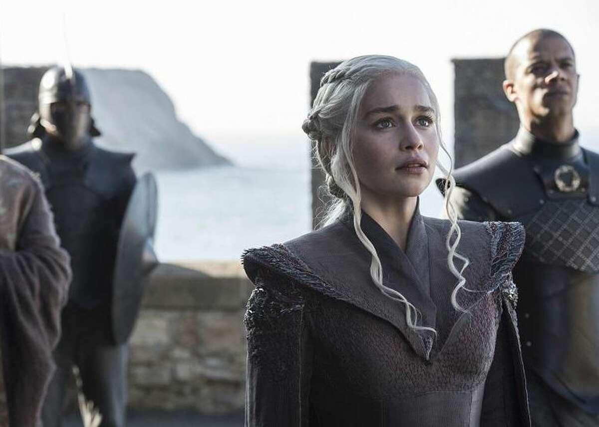 Emilia Clarke as Daenerys Targaryen in the final season of HBO's