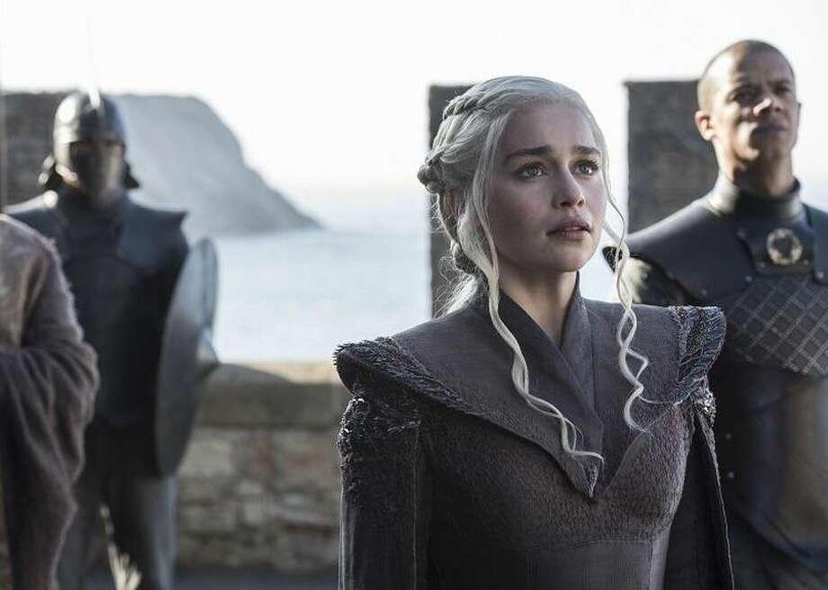 "Emilia Clarke as Daenerys Targaryen in the final season of HBO's ""Game of Thrones."" Photo: CBSI/CNET"