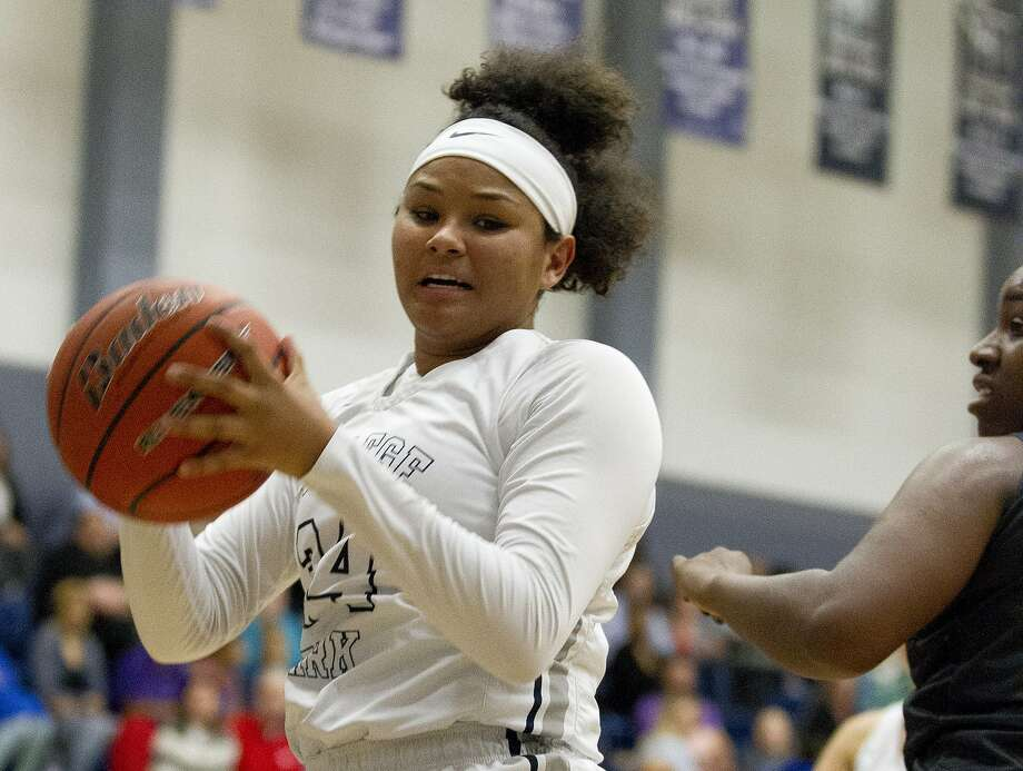 College Park shooting guard Talynne Buckmon (24) rebounds the ball during the first quarter of a District 12-6A high school basketball game at College Park High School, Tuesday, Feb. 6, 2018, in The Woodlands. Photo: Jason Fochtman, Houston Chronicle