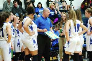 Friendswood basketball coach Daron Scott and the Lady Mustangs finished the first half of the District 22-5A race with a 7-0 record.