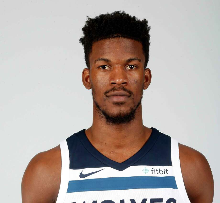 File-This Sept. 22, 2017, file photo shows Minnesota Timberwolves' Jimmy Butler posing during the NBA basketball team media day in Minneapolis.  Butler is headed to Philadelphia, ending the weeks-long saga of him wanting out of Minnesota. A person with knowledge of the situation says Butler is being traded to the 76ers in a package that will send Dario Saric and Robert Covington to the Timberwolves. (AP Photo/Jim Mone, File) Photo: Jim Mone / Copyright 2017 The Associated Press. All rights reserved.