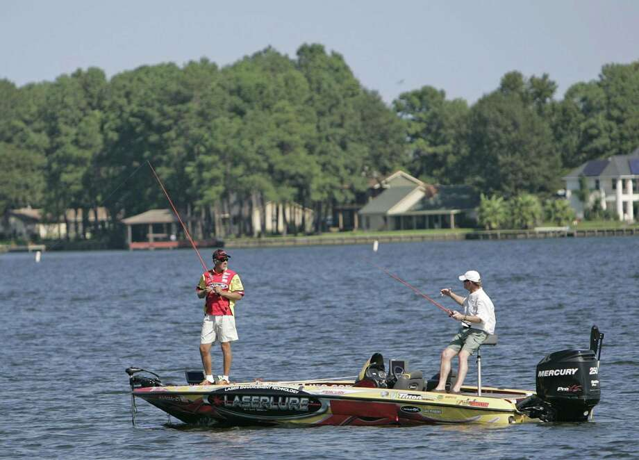 Professional angler Boyd Duckett fishes on Lake Conroe during Thursday's Pro-Am at the Toyota Texas Bass Classic. Photo: Eric S. Swist / Staff Photo By Eric S. Swist / Staff photo by Eric S. Swist