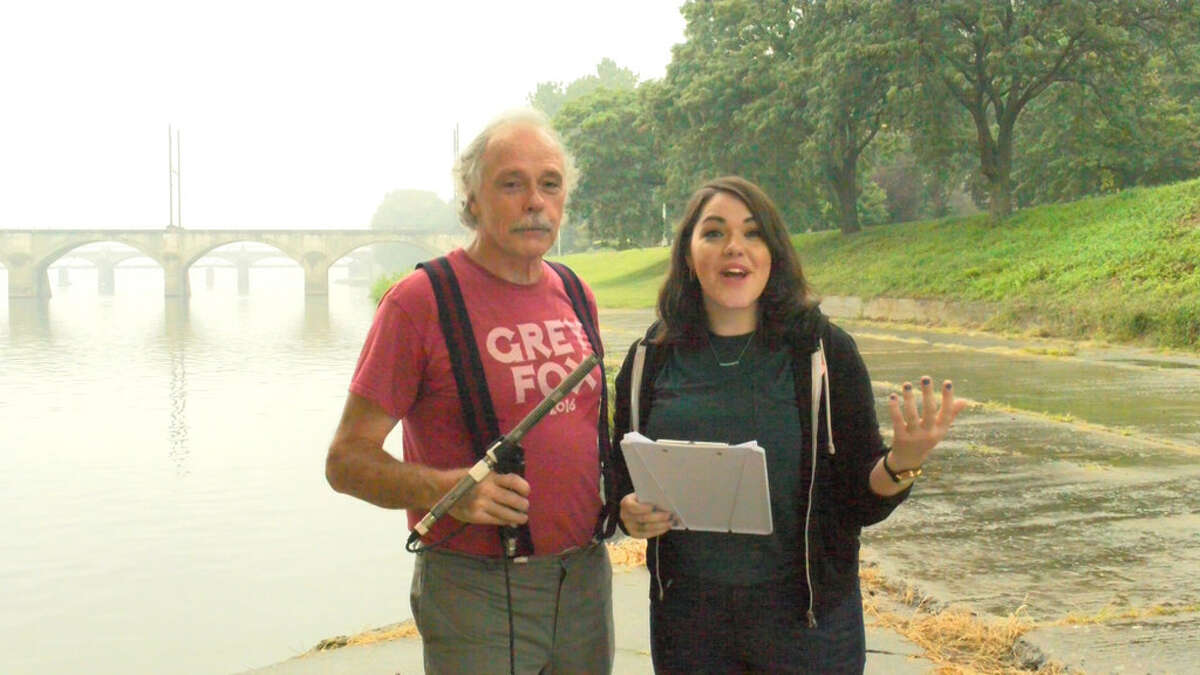 """Robert Millman and his daughter, Rachel, who together made the documentary film """"Line in the Street,"""" about a lawsuit challenging gerrymandering in Pennsylvania."""