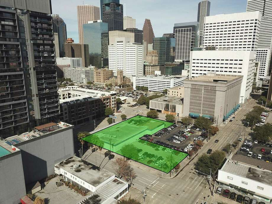 The Downtown Redevelopment Authority has begun the planning process for the new Southern Downtown Park, bounded by Bell, San Jacinto, Leeland and Fannin Streets. Photo: Downtown Redevelopment Authority / Downtown Redevelopment Authority